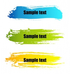 painted grunge banners vector image