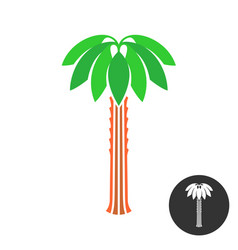 palm tree logo tropical theme nature symbol vector image