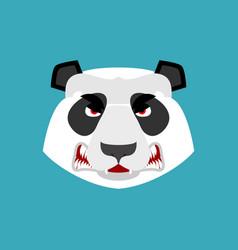 Panda angry emoji chinese bear aggressive emotion vector