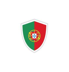 Portugal flag emblem template design vector