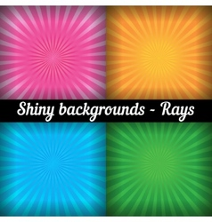Rays Sunburst Pattern set of different colors vector image