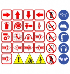 safety hazard signs vector image