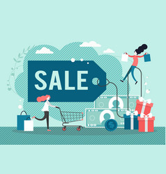 sales and offers promotion flat style vector image