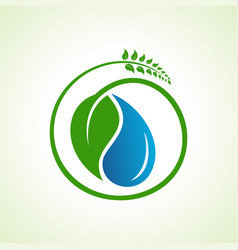 Save water and environment concept stock vector