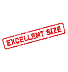 scratched excellent size rounded rectangle stamp vector image
