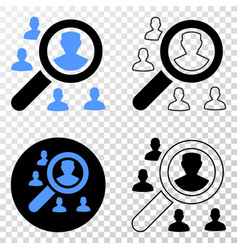 search users eps icon with contour version vector image