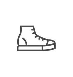 sneaker line icon vector image