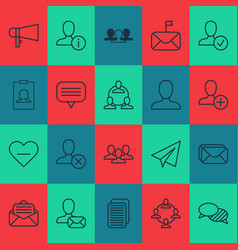 Social icons set with significant read message vector