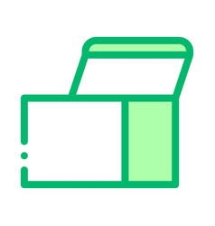 square opened cardboard carton box icon vector image