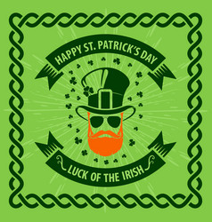 st patricks day holiday poster banner vector image