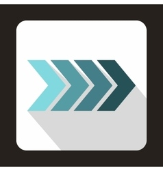 Striped gradient arrow icon flat style vector image