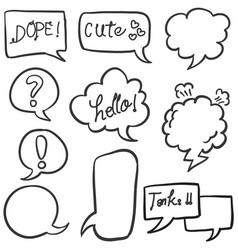 Style text balloon collection stock vector