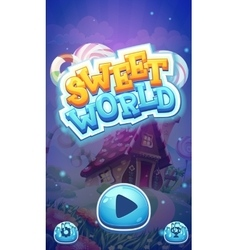 Sweet world mobile GUI boot loading screen for vector