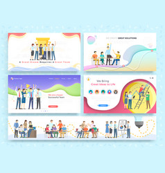 team work together on brainstorming partnership vector image