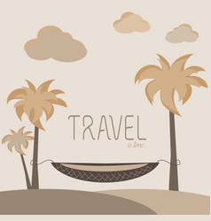 travel is love vector image