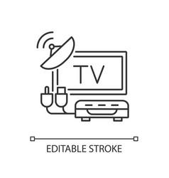 Tv tuner linear icon vector