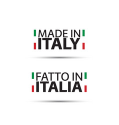 two simple symbols made in italy vector image