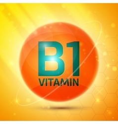 Vitamin B1 icon vector image