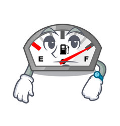 Waiting gasoline indicator in the a mascot vector