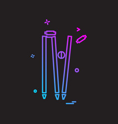 wicket out cricket icon design vector image