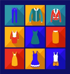 Womens Fashion Shopping flat Icon with shadow vector image
