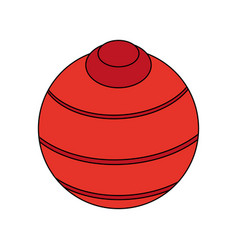 Yoga ball design vector