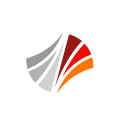 abstract shape loop company logo vector image