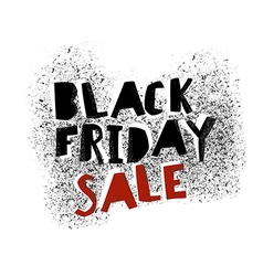 Black Friday Graffiti Typography on white vector image vector image