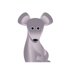cute grey mouse stylized geometric animal low vector image vector image