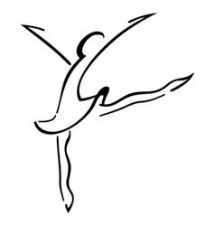 Dance symbol vector image vector image