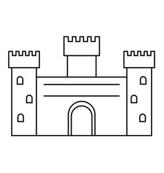 ancient castle icon outline style vector image vector image