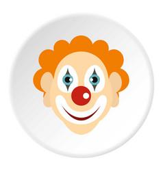 clown icon circle vector image