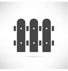 fence icon vector image