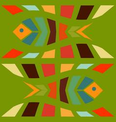 fish mosaic seamless pattern vector image