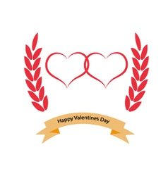 Greeting card with Valentines Day vector image vector image