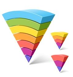 layered segments vector image