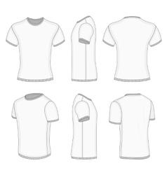 Mens white short sleeve t-shirt vector image