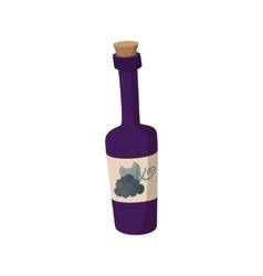 A bottle of wine icon cartoon style vector image vector image