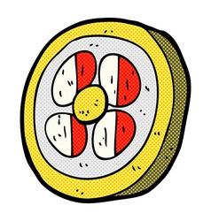 comic cartoon medieval shield vector image vector image