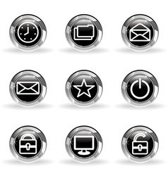 Glossy icon set 21 vector image vector image