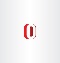 red letter o number zero 0 logo icon design vector image vector image