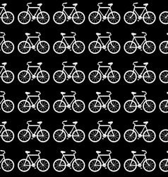 Seamless Bicycle Pattern Black and White vector image