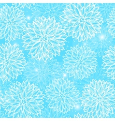 Seamless pattern with flowers Dahlia vector image vector image
