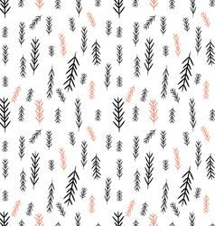 Seamless pine tree graphics pattern vector image vector image