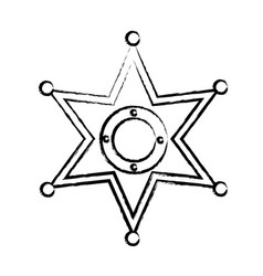 sheriff star icon image vector image