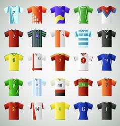 Soccer jersey t shirt set vector image vector image