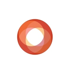 Sphere abstract of a fiery orange vector image