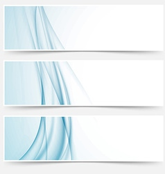 Swoosh blue modern abstract web element set vector image vector image