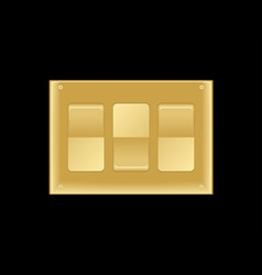 triple light switch vector image