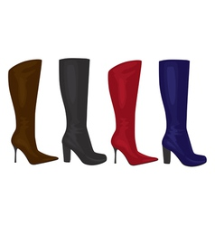 womens boots vector image